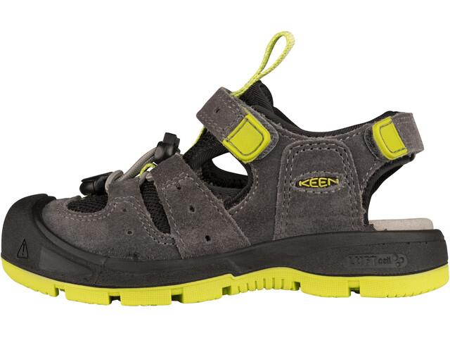 Keen Balboa Sandals Kids, steel grey/chartreuse